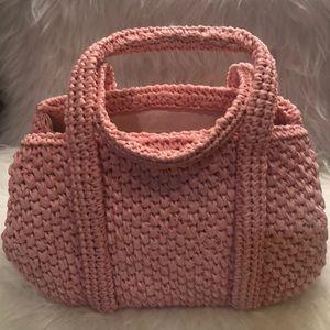 Pink vintage 60's Dayne Taylor straw purse bag
